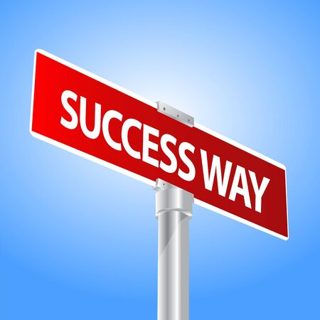 Success Way Sign Vector