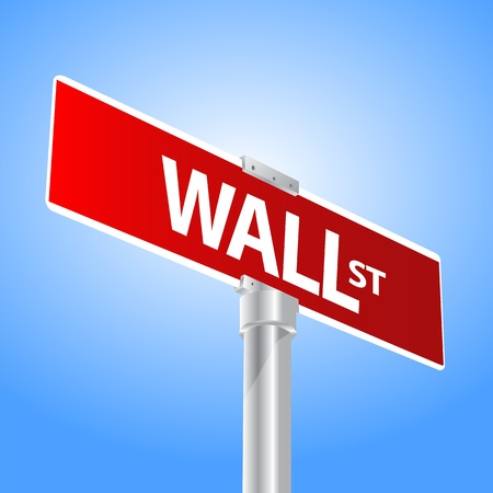 Wall Street sign Stock Vector - 13470527