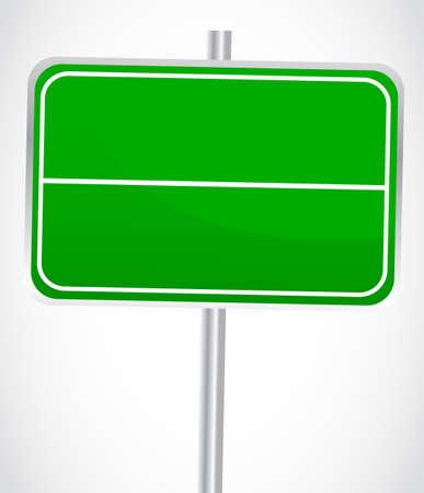 off ramp: Blank Green Sign Illustration