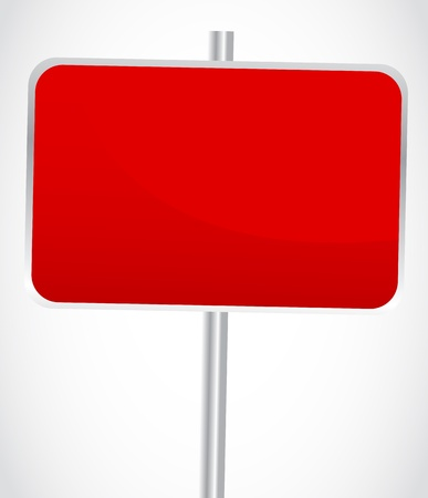 Blank red sign Vector