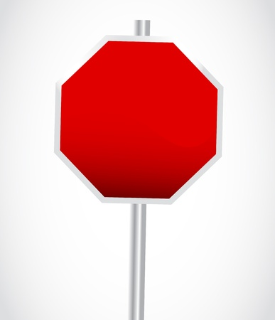 Empty Stop Sign Vector
