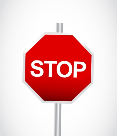 conclude: Stop sign Illustration