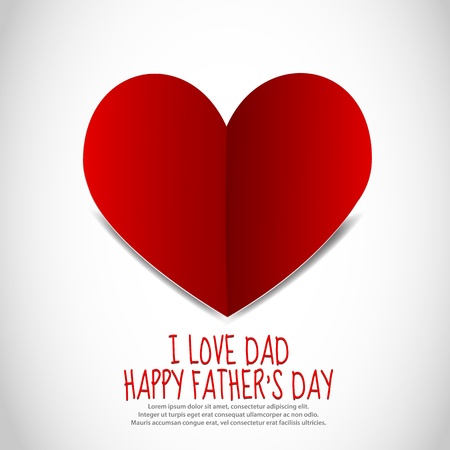 Father s Day Paper Heart Vector