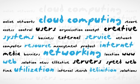 Cloud Computing Word Cloud Vector