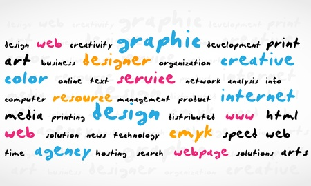 Cmyk Word Cloud Vector