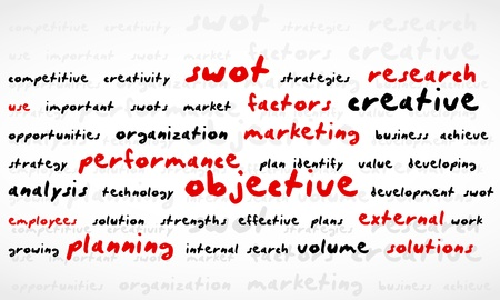 Swot Word Cloud Vector