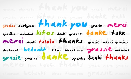 merci: Merci Word Cloud Illustration