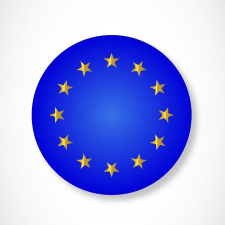 Button of European Union Vector