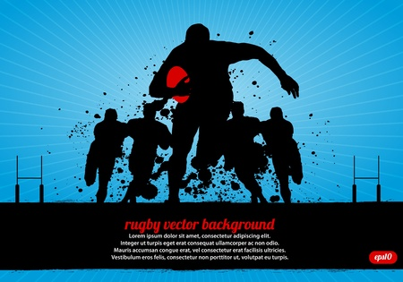 Rugby Poster Illustration