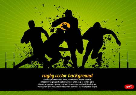 Rugby Vector Poster Vector