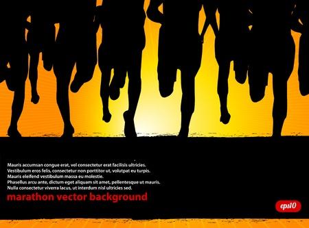 marathon running: Marathon Runners Poster