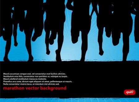 Maratón de corredores de fondo