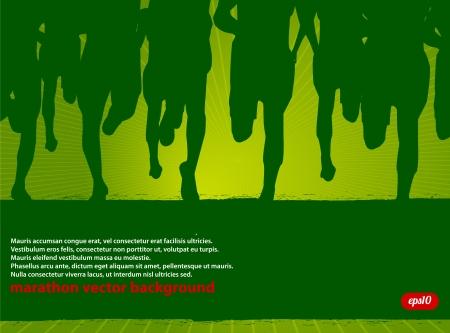 Marathon Runners Wysłał Ilustracje wektorowe