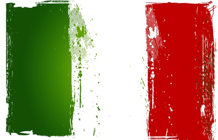 green flag: Grunge Italian Flag Illustration