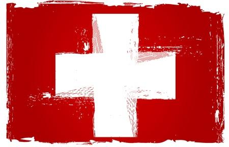 zwitserland vlag: Grunge Zwitserland Vlag