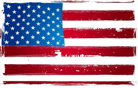 voter: Affiche Grunge drapeau am�ricain