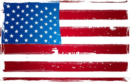verkiezingen: Grunge Amerikaanse Vlag Poster