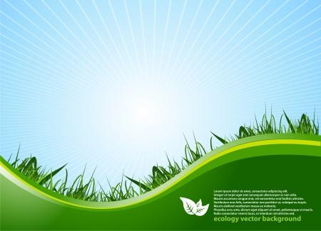 planeta verde: Ecología de fondo Vectores
