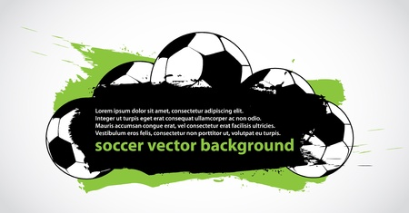 abstract soccer banner Vector