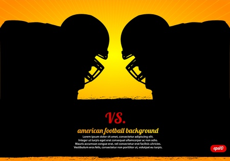 American Football Face-off Vector