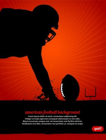 football silhouette: Football americano Poster Vettoriali
