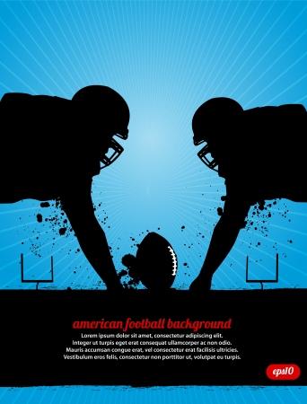 american poster: Enfrente de F�tbol Vectores