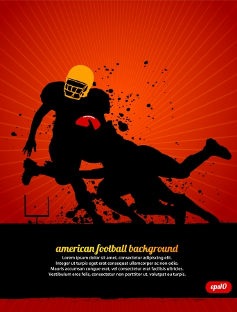 football play: Football americano Vettoriali