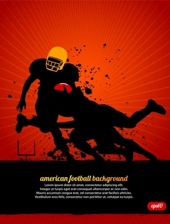 football silhouette: Football americano Vettoriali