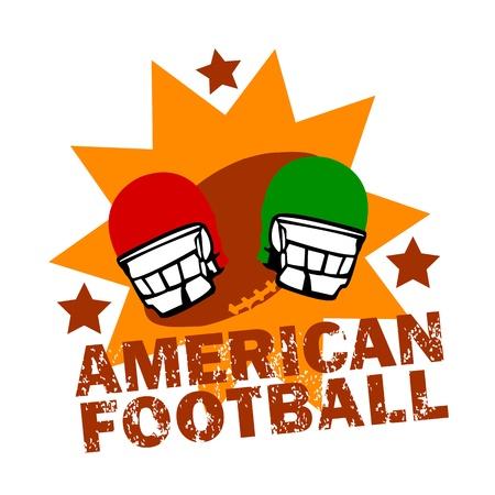 Vintage American Football Logo Stock Vector - 14199784