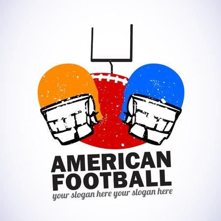 casco rojo: Emblema del f�tbol americano
