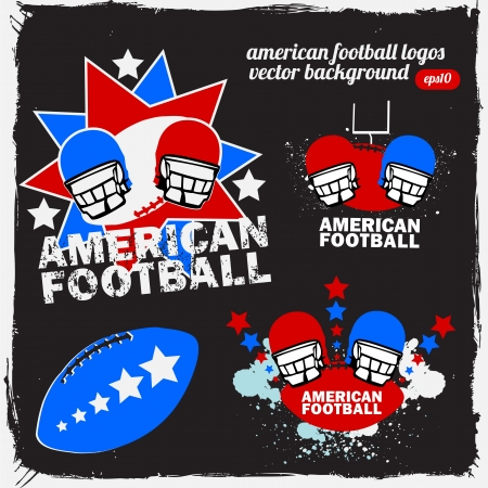 American Football Logo Set_1 Vector