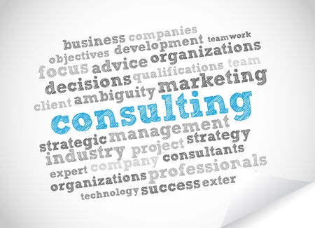 Consulting Word Cloud Vector