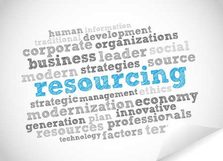 Word Cloud Resourcing Vector