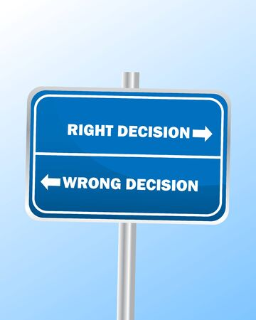 hard way: Decisions Sign