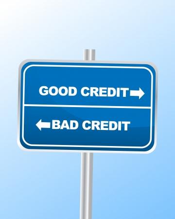 cr�dito: Buen Cr�dito vs Bad
