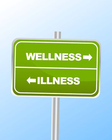 Wellness Illness Vector