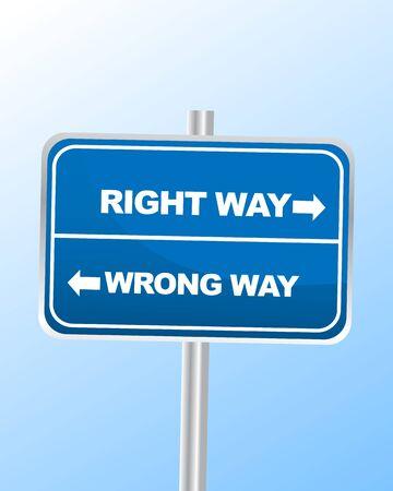Right way or Wrong way Stock Vector - 14361461