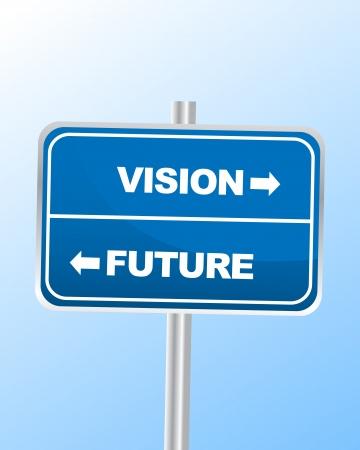 vision future: Toekomstvisie Sign