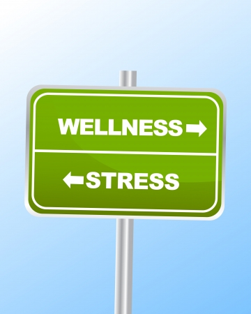 alternative therapies: Wellness Stress Sign