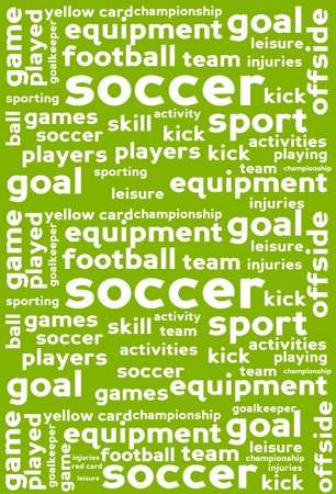 Soccer Word Cloud Background Vector