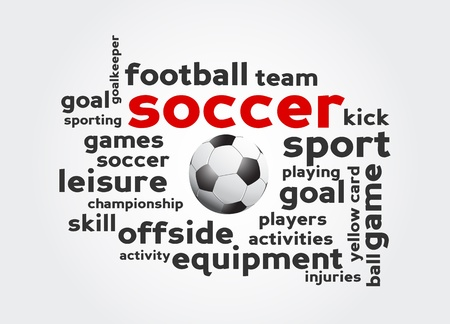 scores: Soccer Tag Cloud Illustration