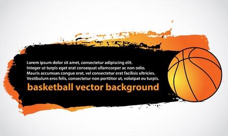 balon baloncesto: baloncesto fondo del cartel Vectores
