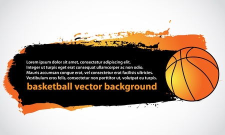 basketball poster background Stock Vector - 14665852