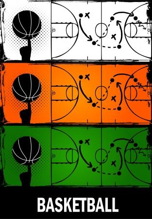 terrain de basket: basket-ball Illustration