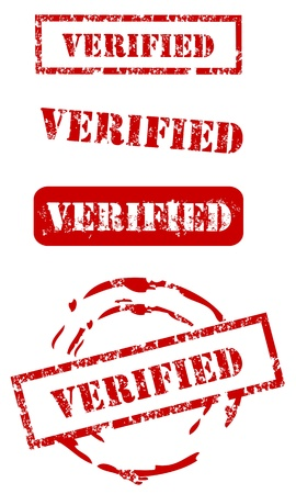 approbation: Timbro set Verified Vettoriali