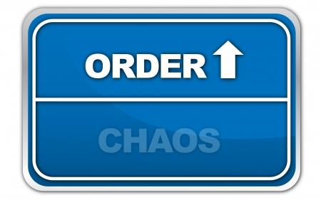 civil disorder: chaos, order
