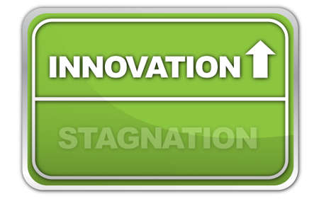 stagnation: Innovation, Stagnation Sign Stock Photo