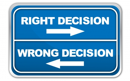 wrong: Right or Wrong Decision Stock Photo