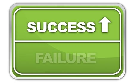 failed strategy: Success Failure Stock Photo