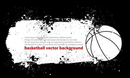 Dirty Basketball Vector
